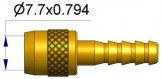 Вращающийся ниппель для  шланга DIA 5 R-3500-2